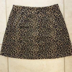 Leopard Print mini skirt size Medium